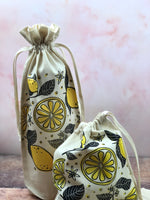 When life gives you lemon - 100% cotton gift bags