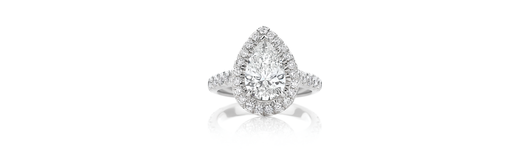 The Rise of the Pear Halo Engagement Ring