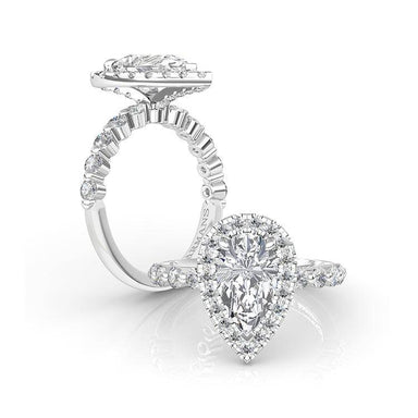 Heaven's Tear Engagement Ring - Armans Fine Jewellery
