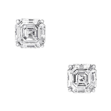Asscher Diamond Studs - Armans Fine Jewellery