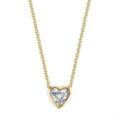 Bezel Set Heart Diamond Pendant - Armans Fine Jewellery