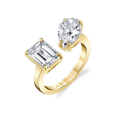 Leah Two Stone Engagement Ring - Armans Fine Jewellery