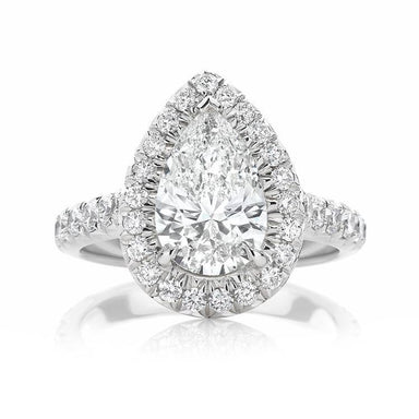 Pear Halo Engagement Ring - Armans Fine Jewellery