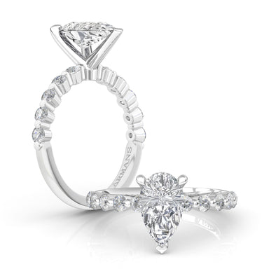 Rain Drop Engagement Ring - Armans Fine Jewellery