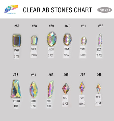 Clear AB Stones 3
