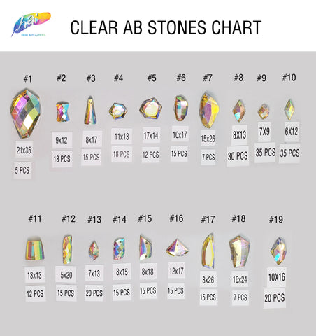 Clear AB Stones 4