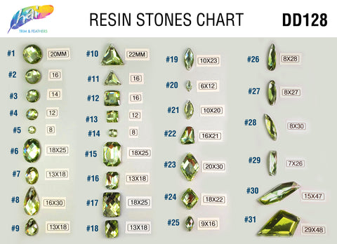 Lime Green Stones DD128