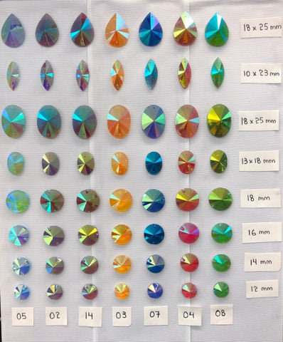 Color AB Pointy Stones