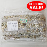 CLOSEOUT! 5 yards Antique Shell Beaded Trim on White Mesh , COT-004
