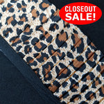 CLOSEOUT! 5 yards Leopard Print Pleated Trim , COT-050