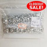 CLOSEOUT! 5 yards Clear Acrylic Stones and Silver Sequins Stone on White Mesh , COT-029