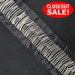 CLOSEOUT! 10 yards Silver Long Beads Trim on Black Fabric Backing , COT-066