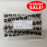 CLOSEOUT! 5 yards Silver Stones Black Silver Tape on Organza Ribbon , COT-081