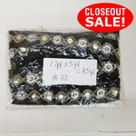 CLOSEOUT! 5 yards Clear Yellow Stones Gold Beads Silver Chain on Black Felt Backing , COT-088