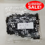 CLOSEOUT! 5 yards Black White Embroidered Beaded Trim , COT-098