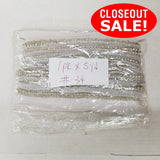 CLOSEOUT! 5 yards Silver Sequins Beaded Trim , COT-010