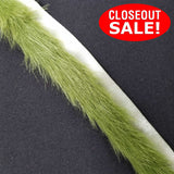 CLOSEOUT! 5 yards Green Faux Fur Trim , COT-138
