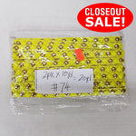 CLOSEOUT! 10 yards Gold Round Neon Yellow Studs on Neon Yellow Tape Trim , COT-135