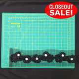CLOSEOUT! 10 yards Clear Stones Black Beaded Trim on Black Mesh , COT-153