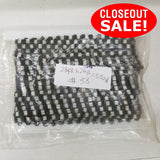CLOSEOUT! 24 yards Silver Black Beaded Trim , COT-220