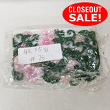 CLOSEOUT! 5 yards Lt Pink Green Floral Beaded Trim , COT-207