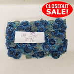 CLOSEOUT! 5 yards Floral Sequin Beaded Trim , COT-212