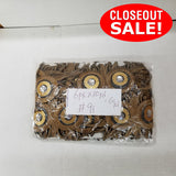 CLOSEOUT! 10 yards Resin Stones Sequins Embroidered Trim , Available in 7 Different Colors ,  COT-121