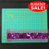 CLOSEOUT! 5 yards Stones Sequins Dotted Mesh Trim, Available in 7 Different Colors , COT-252