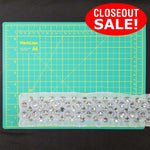 CLOSEOUT! 5 yards Stones Dotted Mesh Trim , Available in 8 Different Colors,  COT-251