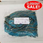 CLOSEOUT! 10 yards Turquoise Sequins Beads Lace Trim , COT-273