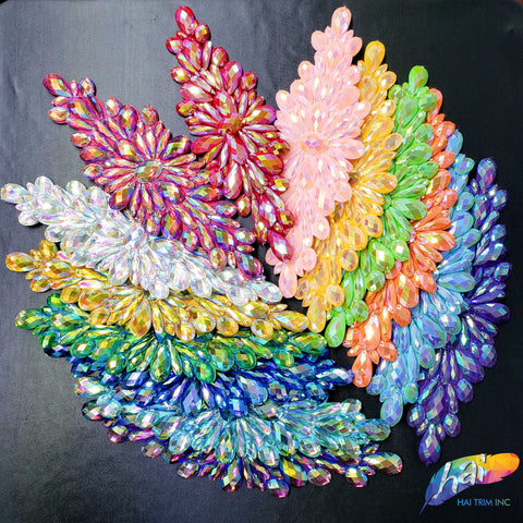 Color Iridescent Resin Stone Applique, NAS-06