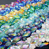 Beaded Stone Applique, Colorful Resin Gems Patch, Dance Broadway Carnival Costume Headpiece Waist Centerpiece, NAS-26