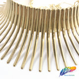 Gold Metal Choker Necklace - Style G