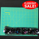 CLOSEOUT! 5 yds of Iridescent Sequins and Beads on Black and White Mesh Trim , COT-002