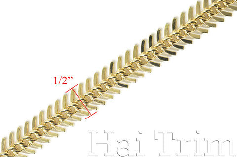 "1/2"" Metal Fish Scale Spiral Chain, CH-028"
