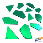 Green Cut Mirror Stones (Green-005)