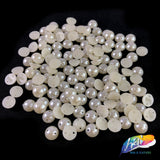 8mm Ivory Flatback Sew On Pearls (1 gross = 144 pieces)