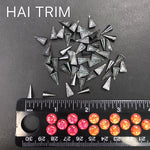 5x10mm Half Cone Spike Iron On Studs, K-065