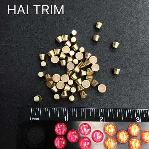 5mm Flat Top Cone Iron On Studs, K-003