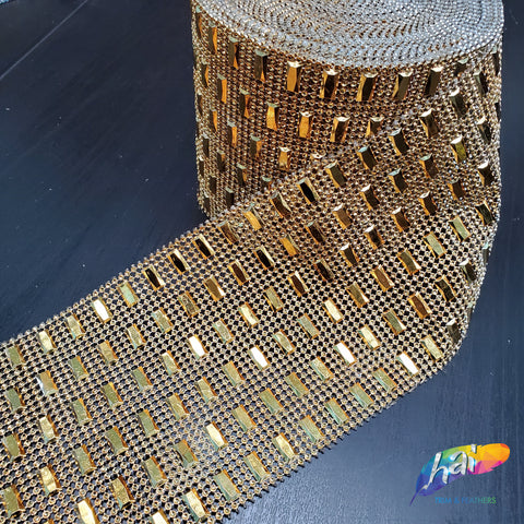 6-row Rectangle Stud Mesh Plastic Banding, PSB-008