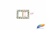 "1/2"" Rectangle Rhinestone Buckle with Bar, RB-016"