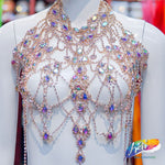 Crystal Rhinestone Couture Bodice Necklace, RCN-001