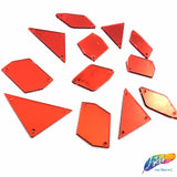 Red Cut Mirror Stones (Red-003)