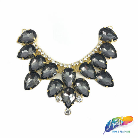 SALE! Glass Teardrop Rhinestone Applique, YH-110