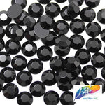 11mm Black Acrylic Rhinestones (1 pack = 1000 pieces)