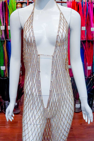 Rhinestone Cupchain Dress, RD-001