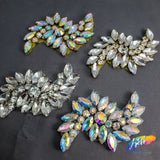 Wavy Fancy Rhinestone Applique, RA-082