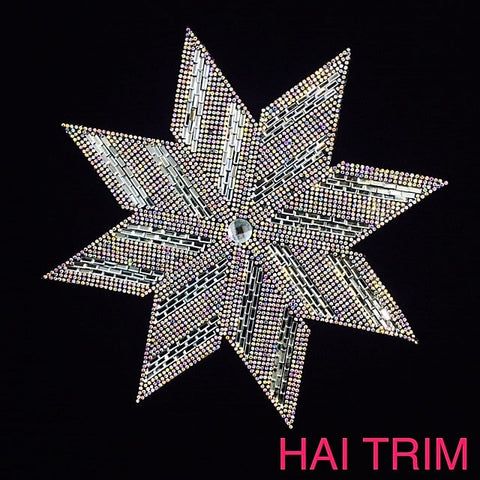 Gel-Back Rhinestone Appliques, Colored Iron-on Crystal Rhinestone Patches, IRA-030