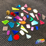 Neon Yellow Cut Mirror Stones (Neon  Yellow-006)