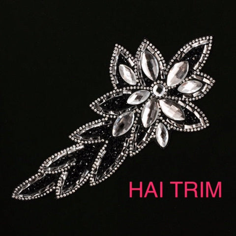 Gel-Back Rhinestone Appliques, Colored Iron-on Crystal Rhinestone Patches, IRA-049